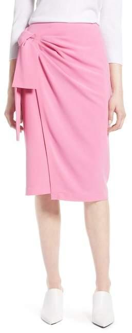 Halogen(R) Side Tie Pencil Skirt (Regular & Petite)