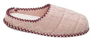 Dearfoams Women's Quilted Cable Knit Clog Slippers