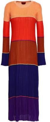 Missoni Color-block Wool-blend Midi Dress