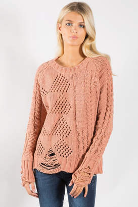 Elan International Cozy Distressed Sweater