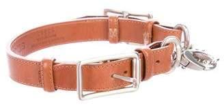 St. John Leather Chain-Link Belt