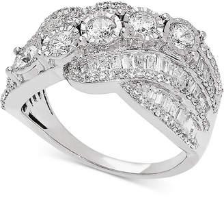 Macy's Diamond Diagonal Ring (1-1/2 ct. t.w.) in 14k White Gold