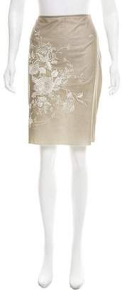 Vivienne Tam Embroidered Knee-Length Skirt