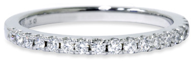 Bed Bath & Beyond 14K White Gold and Diamond Anniversary Ring (.30 cttw, SI1-SI2 Clarity, H-I Color)