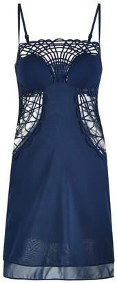La Perla Soutache Silk Georgette Short Cut-Out Dress