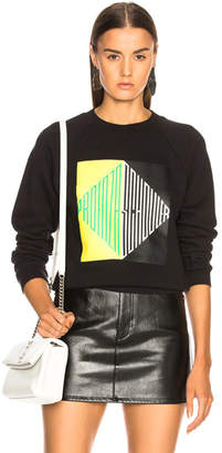 Proenza Schouler PSWL Split Diamond Printed Shrunken Sweatshirt