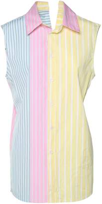Marni Sleeveless Contrast-panel Striped Shirt