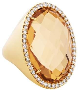 Roberto Coin 18K Quartz & Diamond Cocktail Ring