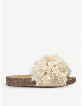 UGG Cindy suede fringed sliders