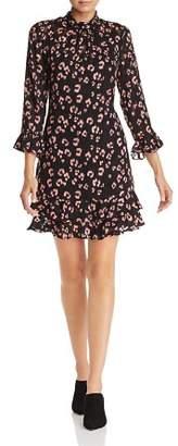 Rebecca Taylor Flounced Cheetah Print Dress