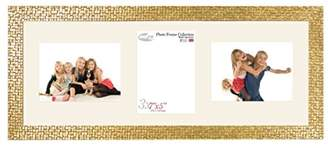 Inov-8 Inov8 7 x 5-Inch Mosaic Triple-Aperture British Made Picture Frame for 2L/1P Photos, Gold, 9 x 12 x 16 cm
