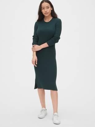 Gap Ribbed Crewneck Midi Sweater Dress