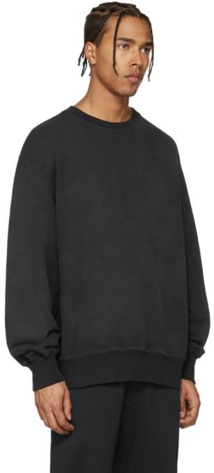YEEZY Black Boxy Crewneck Sweatshirt 2