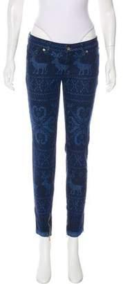Dolce & Gabbana Low-Rise Fair Isle Jeans