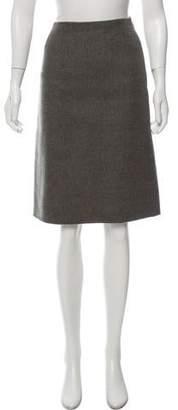 Oscar de la Renta Knee-Length Twill Skirt