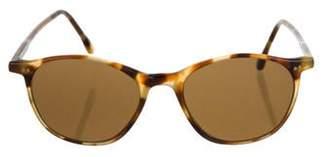 Calvin Klein Collection Round Tinted Sunglasses brown Round Tinted Sunglasses