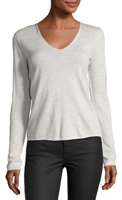 Zadig & Voltaire Strass Skull Merino Wool Sweater, Gray $228 thestylecure.com