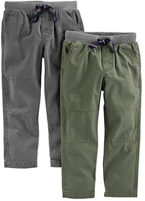 Carter's Simple Joys by Baby Boys' Toddler 2-Pack Pull on Pant