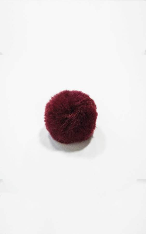 Ily Couture Red Pom Pom Clip