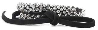Isabel Marant Crystal leather tie bracelet