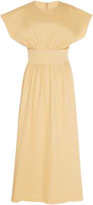 Deitas Albertina Ruched Cotton Dress Size: 34