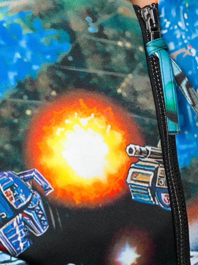 Moschino cropped spaceship print jacket