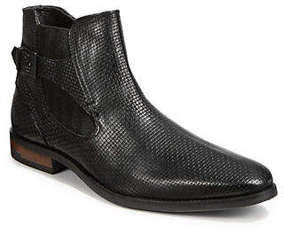 Bugatti Gabrio Leather Buckled Chelsea Boots
