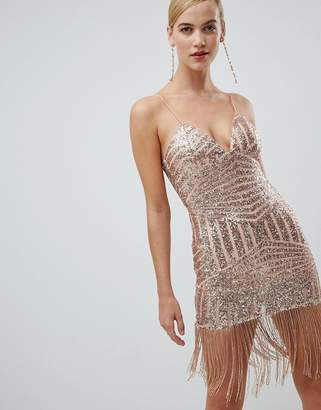 Rare Sequin And Fringe Bodycon Dress