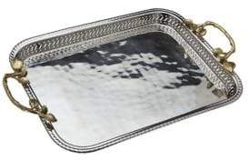 Godinger Leaf Handled Gallery Tray