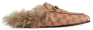 Gucci Women's Princetown Canvas Slippers - Med. brown
