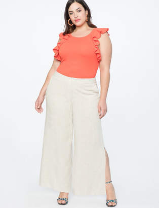 Wide Leg Trouser with Side Slits
