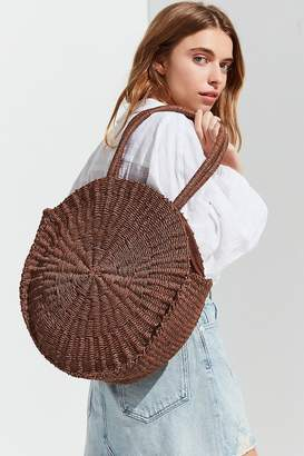 Urban Outfitters Large Circle Straw Shoulder Bag