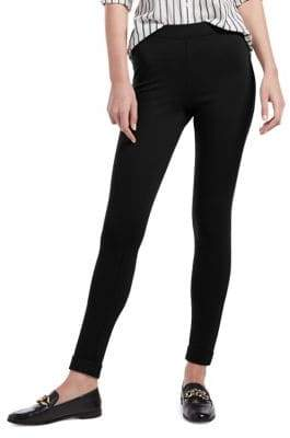 Hue Ponte Fleece-Lined High Waist Leggings