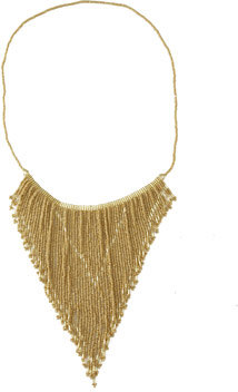 Seed Bead Fringe Necklace