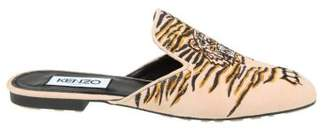 Kenzo Sabot In Pink Suede