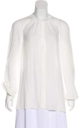 Tamara Mellon Long Sleeve Silk Blouse