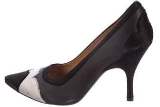 Lanvin Embossed Leather Pointed-Toe Pumps amazon for sale discount official site sale low price fee shipping buy cheap fake xAbrgCh28