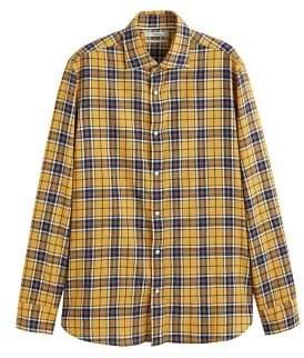 Mango Man MANGO MAN Slim-fit checked cotton shirt