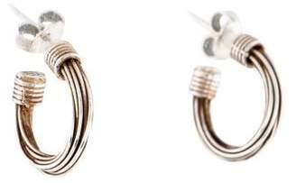 Links of London Textured Hoop Earrings