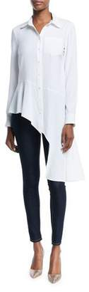 Nanette Lepore Dramatic Asymmetric Long-Sleeve Shirt