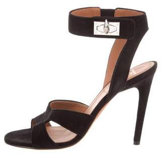 Givenchy Suede Ankle Strap Sandals w/ Tags