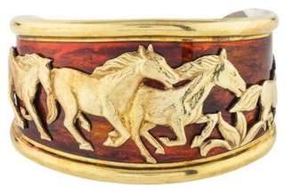 La Nouvelle Bague Enamel Horse Cuff