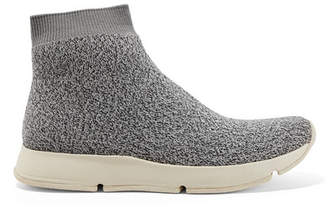 Vince Tyra Stretch-knit High-top Sneakers - Gray