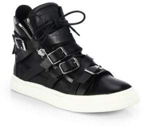 Giuseppe Zanotti Multistrap Double-Zip High-Top Sneakers
