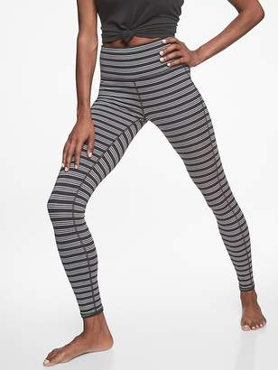 Athleta High Rise Heather Stripe Chaturanga Tight
