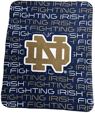 NCAA Logo Brand Notre Dame Fighting Irish Classic Fleece Blanket