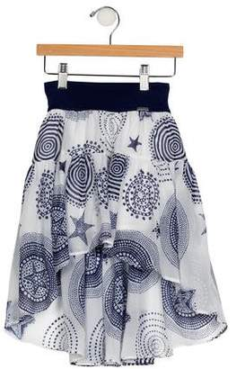 Junior Gaultier Girls' Printed High-Low Skirt