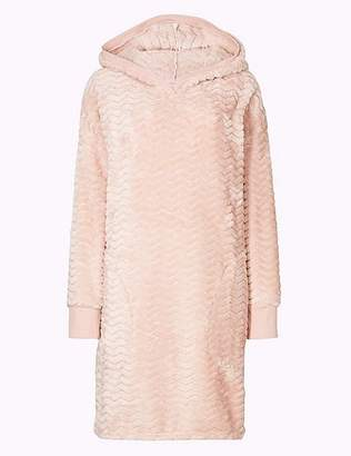 Marks and Spencer Cosy Textured Hooded Lounge Dress