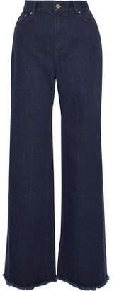 Zimmermann Frayed High-rise Wide-leg Jeans