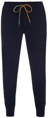 Men's Navy Jersey Cotton Lounge Pants $100 thestylecure.com